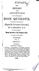 The History and Adventures of the Renowned Don Quixote     Embellished with Superb Engravings
