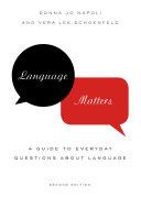 Pdf Language Matters Telecharger