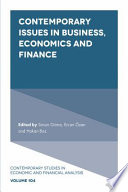 Contemporary Issues in Business  Economics and Finance