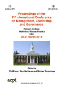 Pdf Proceedings of the 2nd International Conference on Management, Leadership and Governance Telecharger