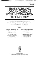 Transforming Organizations with Information Technology Book