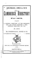 The Cambridge Directory for