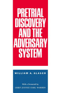 Pretrial Discovery and the Adversary System ebook