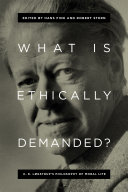 What Is Ethically Demanded