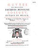 Oeuvres de messire Jacques-Bénigne Bossuet,...