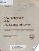 New Publications of the U S  Geological Survey Book