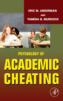 Psychology of Academic Cheating Book