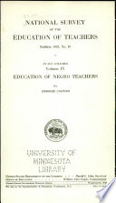 National Survey of the Education of Teachers