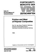 Friction and Wear of Polymer Composites Book