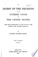 A Digest of the Decisions of the Supreme Court of the United States Book