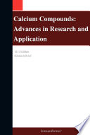 Calcium Compounds  Advances in Research and Application  2011 Edition