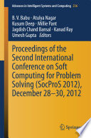 Proceedings Of The Second International Conference On Soft Computing For Problem Solving Socpros 2012 December 28 30 2012