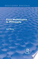 From Mathematics to Philosophy  Routledge Revivals