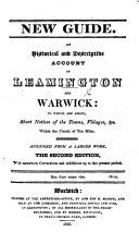 Pdf An historical and descriptive account of Leamington and Warwick; to which are added, short notices of the towns, villages, etc. within the circuit of ten miles. Abridged from a larger work (An historical and descriptive account of the town and Castle of Warwick, etc. Signed, W. F., i.e., William Field. )