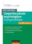 Pdf L'aide-mémoire de l'expertise pénale psychiatrique et psychologique Telecharger