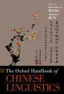 Pdf The Oxford Handbook of Chinese Linguistics Telecharger