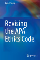 Pdf Revising the APA Ethics Code Telecharger