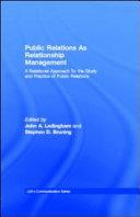 Public Relations As Relationship Management