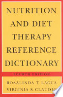 Nutrition And Diet Therapy Reference Dictionary Book PDF