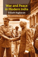 War and Peace in Modern India