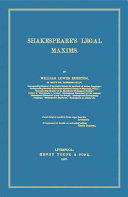 Shakespeare s Legal Maxims
