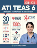 link to ATI TEAS 6 study system + test prep guide + practice workbook 2018-2019 : ATI TEAS version 6 30 day study system in the TCC library catalog