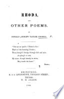 Rhoda, and Other Poems