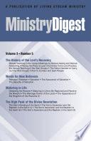Ministry Digest Vol 03 No 05
