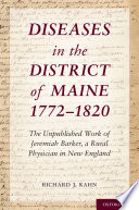 Diseases in the District of Maine 1772   1820