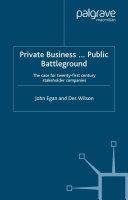 Private Business-Public Battleground