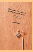 Community Colleges and First-Generation Students [Pdf/ePub] eBook