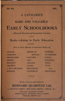 Pdf A Catalogue of Rare and Valuable Early Schoolbooks (fifteenth, Sixteenth and Seventeenth Centuries) and of Books Relating to Early Education