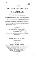 A new Spanish and English grammar