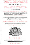 Dictionnaire Universel Francois Et Latin ebook