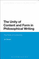 Pdf The Unity of Content and Form in Philosophical Writing Telecharger