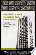 Alkali Activated Cements And Concretes Book PDF