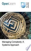 Managing Complexity  A Systems Approach Book PDF