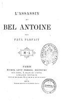 L'assassin du bel Antoine par Paul Parfait