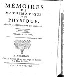 Mémoires de mathématique et de physique
