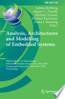 Analysis  Architectures and Modelling of Embedded Systems Book