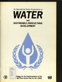 An International Action Programme on Water and Sustainable Agricultural Development