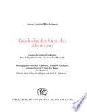Schriften und Nachlass: Geschichte der Kunst des Alterthums: Text