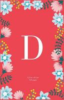 Monogram Letter D Journal