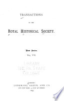 Transactions of the Royal Historical Society Book