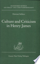 Culture And Criticism In Henry James