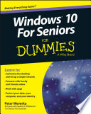 Windows 10 For Seniors For Dummies Book