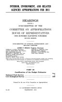 Interior, Environment, and Related Agencies Appropriations for 2011, Part 1B, 111-2 Hearings