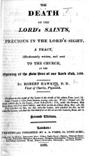 The Death of the Lord s Saints  Precious in the Lord s Sight  A Tract     Second Edition
