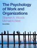 Cover of The Psychology of Work and Organizations