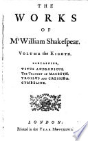 The works of Shakespear, with a glossary, pr. from the Oxford ed. in quarto, 1744 [by Sir T.Hanmer].